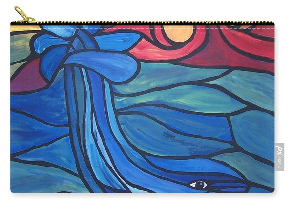 Carry-all Pouch featuring the painting Splash by Cynthia Amaral