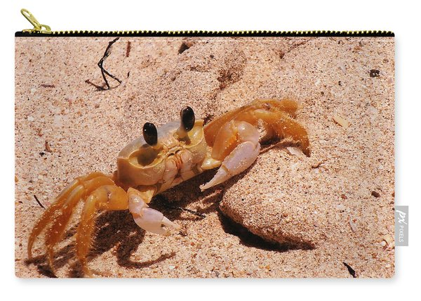St. Lucia Crab On Beach Carry-all Pouch