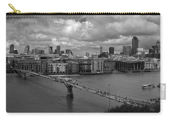 St Paul's And The City Panorama Bw Carry-all Pouch
