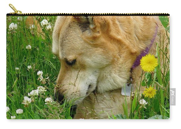 Stop And Smell The Clover Carry-all Pouch