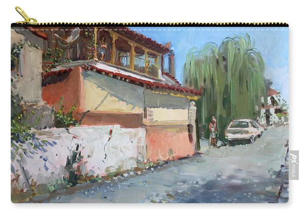 Street In A Greek Village Carry-all Pouch