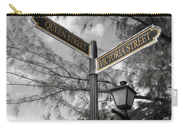 Street Signs On Grand Turk Carry-all Pouch