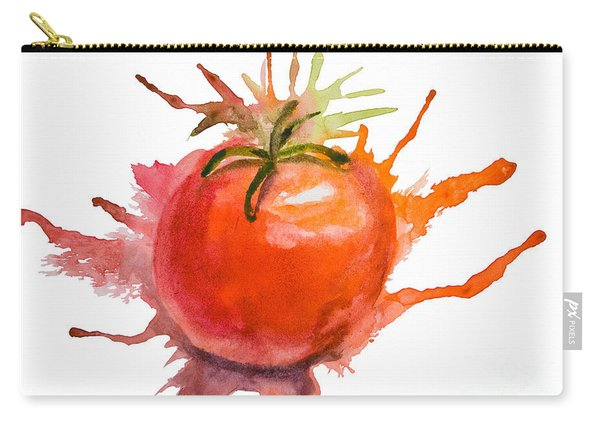 Stylized Illustration Of Tomato Carry-all Pouch