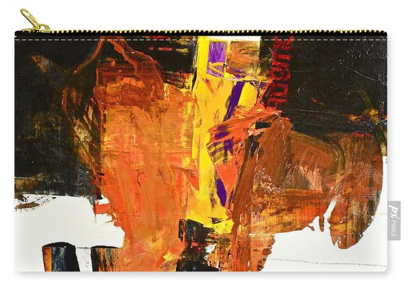Carry-all Pouch featuring the painting Subliminal Sublimation by Cliff Spohn