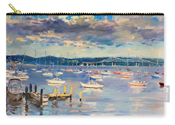Sun And Clouds In Hudson Carry-all Pouch