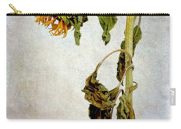 Sunflower Textured Carry-all Pouch