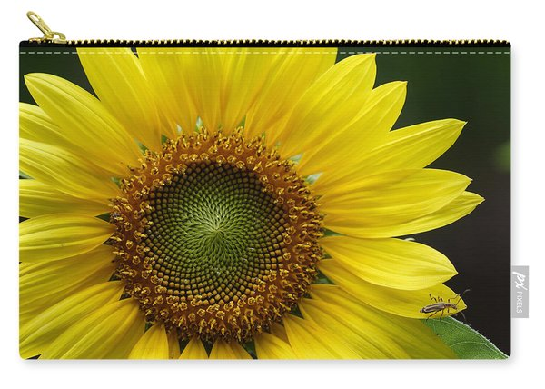 Sunflower With Insect Carry-all Pouch