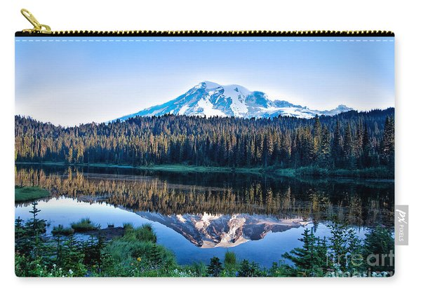 Sunrise At Reflection Lake Carry-all Pouch
