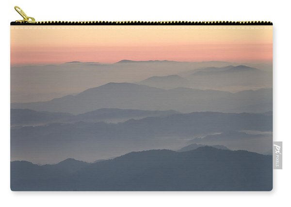 Sunrise On Round Bald Carry-all Pouch