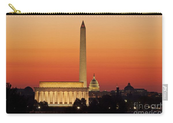 Carry-all Pouch featuring the photograph Sunrise Over Washington Dc by Brian Jannsen