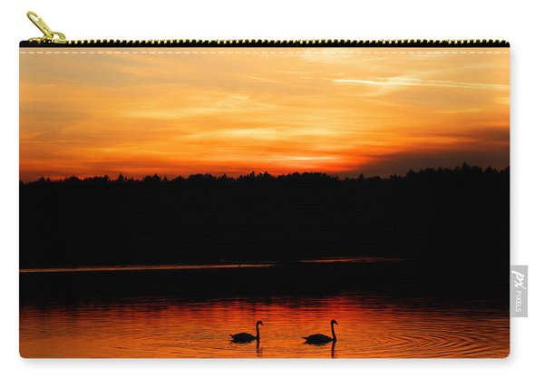 Swans In The Sunset Carry-all Pouch