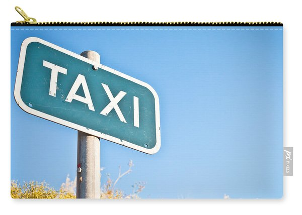 Taxi Sign Carry-all Pouch
