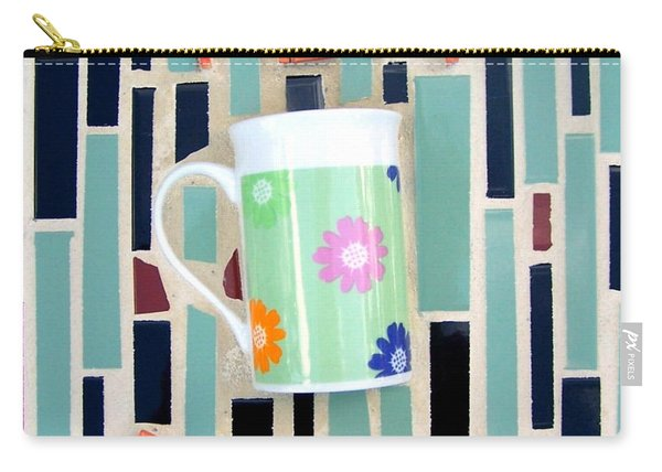 Carry-all Pouch featuring the mixed media Tea Room by Cynthia Amaral