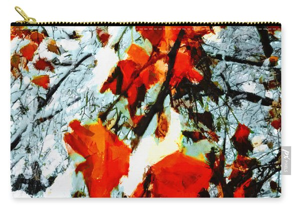 The Autumn Leaves And Winter Snow Carry-all Pouch