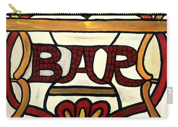 Carry-all Pouch featuring the painting The Bar by Cynthia Amaral