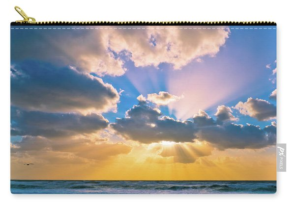The Sea In The Sunset Carry-all Pouch
