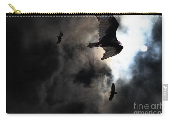 The Vultures Have Gathered In My Dreams . Version 2 Carry-all Pouch