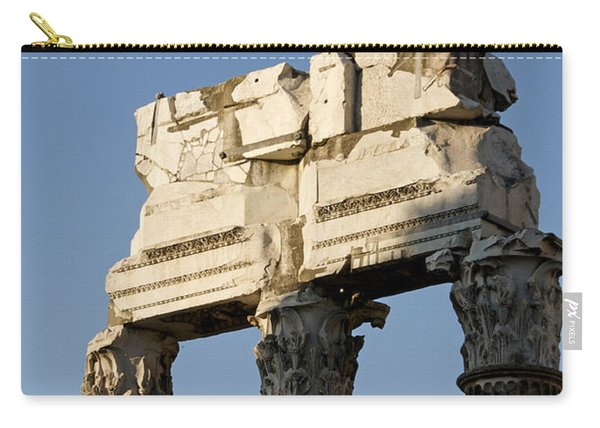 Three Columns And Architrave Temple Of Castor And Pollux Forum Romanum Rome Italy. Carry-all Pouch