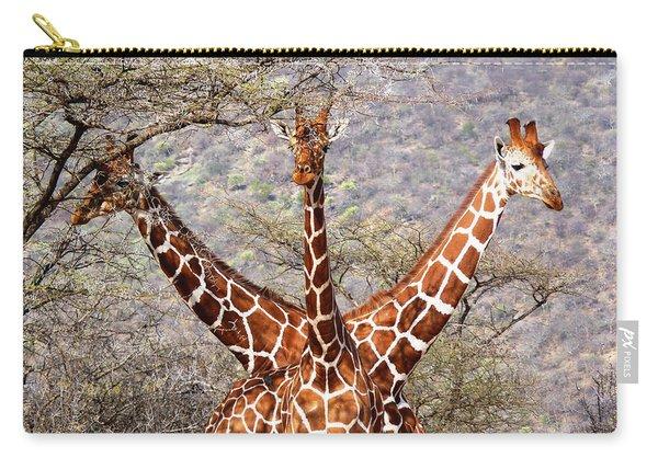 Three Headed Giraffe Carry-all Pouch