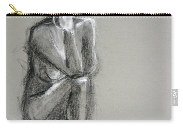 Carry-all Pouch featuring the drawing Top by Gabrielle Wilson-Sealy