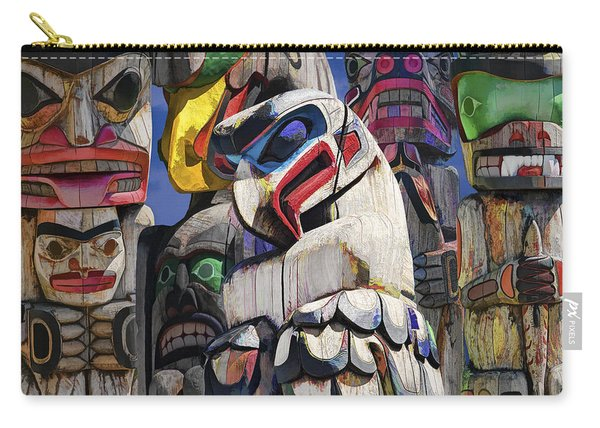 Totem Poles In The Pacific Northwest Carry-all Pouch