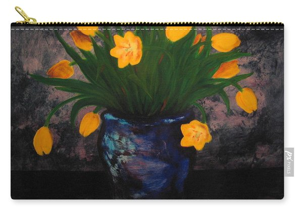 Tulips In Blue Carry-all Pouch