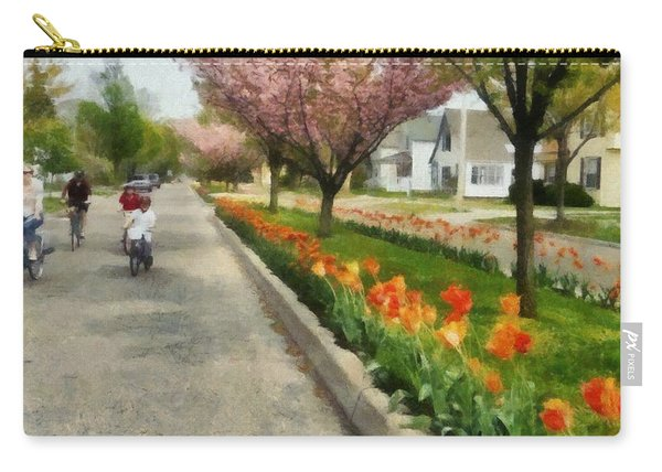 Tulips On The Boulevard Holland Michigan Carry-all Pouch