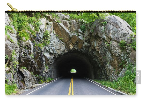 Tunnel On A Lonely Road Carry-all Pouch