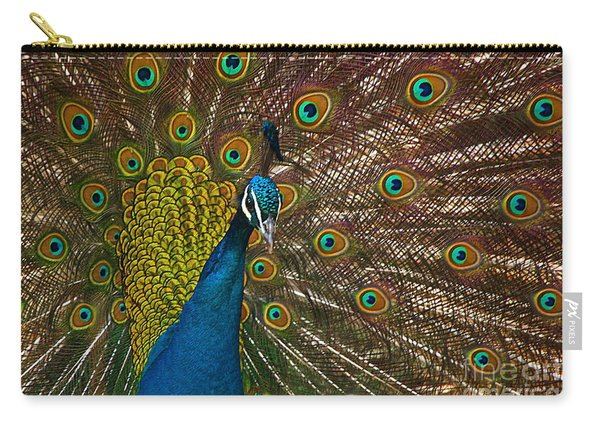 Turquoise And Gold Wonder Carry-all Pouch