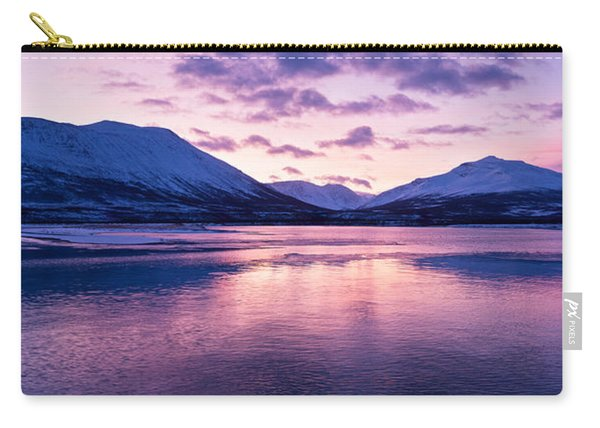 Twilight Above A Fjord In Norway With Beautifully Colors Carry-all Pouch
