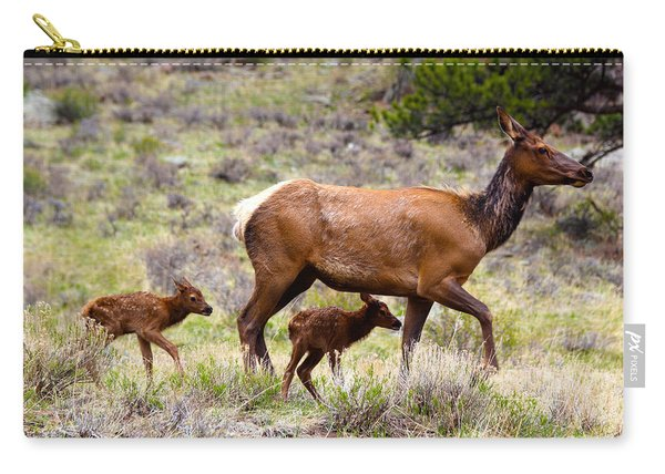 Twin Elk Calves Carry-all Pouch