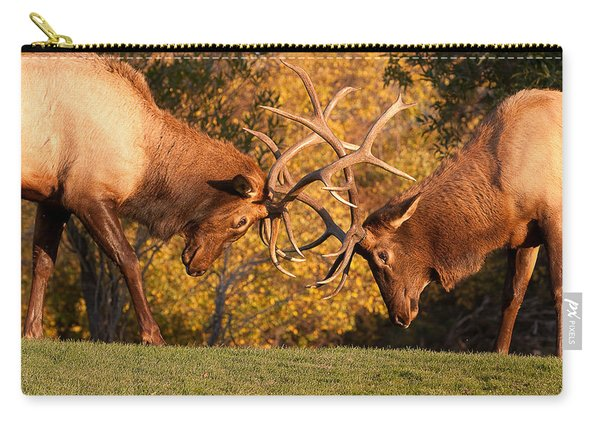 Two Bull Elk Sparring 89 Carry-all Pouch