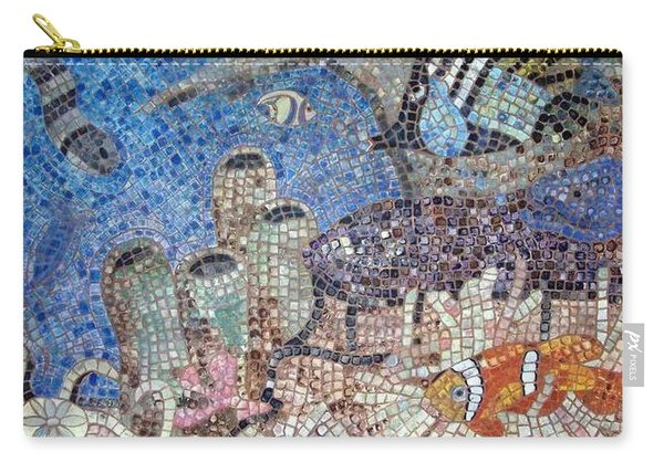 Carry-all Pouch featuring the painting Under The Sea by Cynthia Amaral