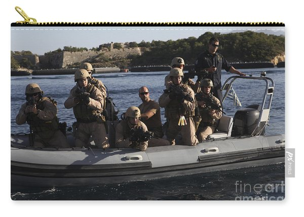 U.s. Marines Approach A Suspect Vessel Carry-all Pouch