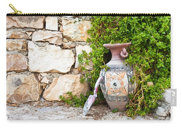 Vase And Trowel  Carry-all Pouch