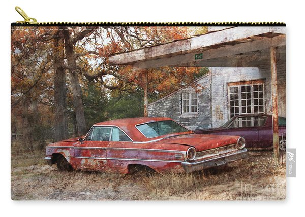Vintage 1950 1960 Ford Galaxy Red Car Photo Carry-all Pouch