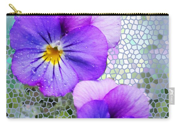 Viola On Glass Carry-all Pouch