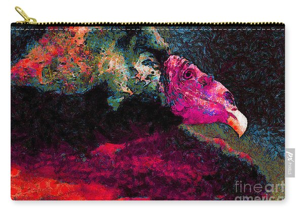 Vulture In Van Gogh.s Dream . V2 . 40d8879 Carry-all Pouch