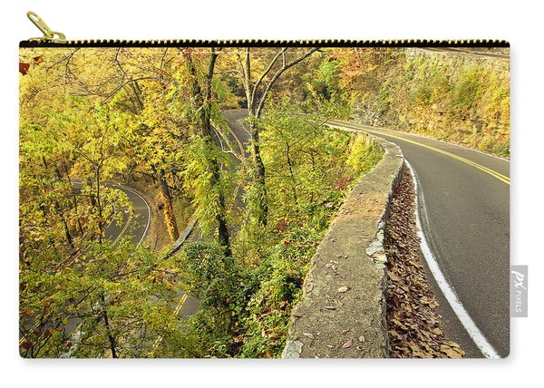 W Road In Autumn Carry-all Pouch