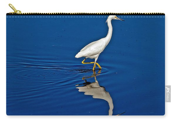 Walking Egret Carry-all Pouch