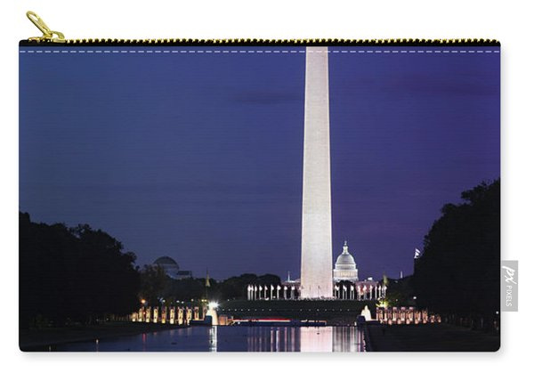 Washington Monument At Sunset Carry-all Pouch