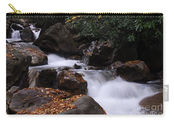 Waterfall In Fall Carry-all Pouch