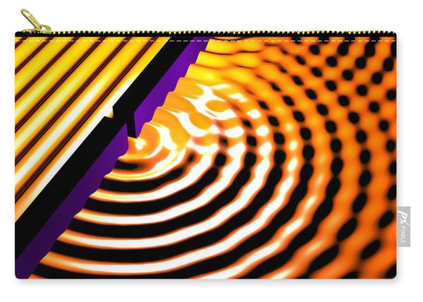 Waves Two Slit 2 Carry-all Pouch