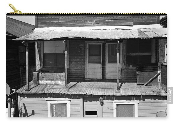 Weathered Home With Satellite Dish Carry-all Pouch