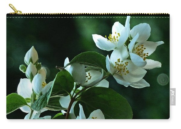 White Buds And Blossoms Carry-all Pouch