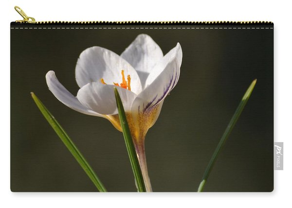 White Crocus Carry-all Pouch