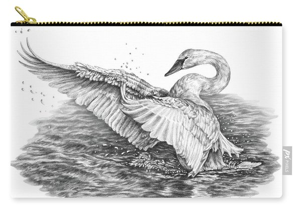 White Swan - Dreams Take Flight Carry-all Pouch