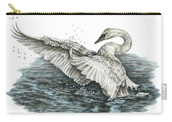 White Swan - Dreams Take Flight-tinted Carry-all Pouch