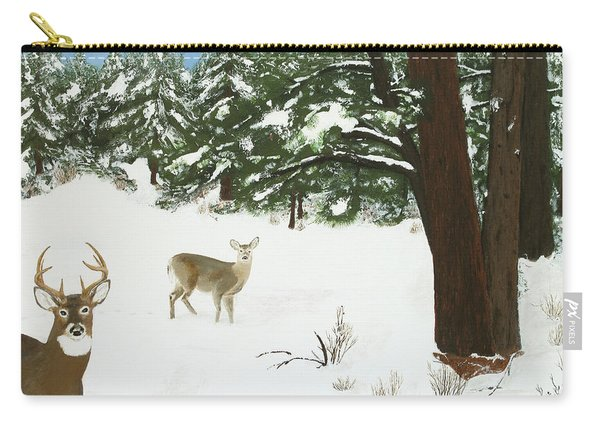 Wintering Whitetails Carry-all Pouch
