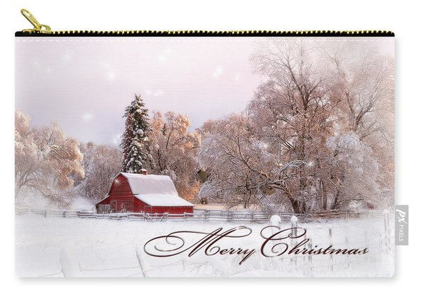 Winters Glow - Christmas Card Carry-all Pouch